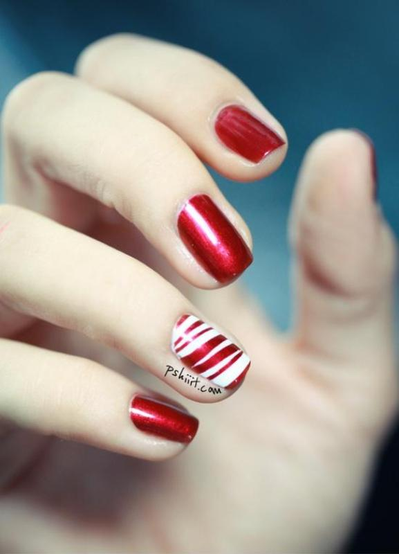 Picture Of DIY Bright Striped Nail Design 1