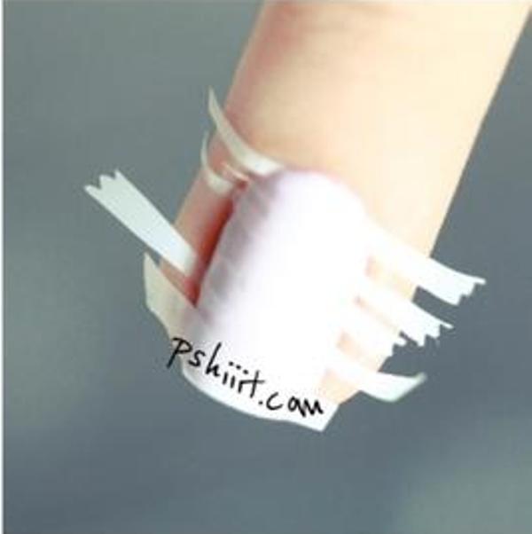 Picture Of DIY Bright Striped Nail Design 3