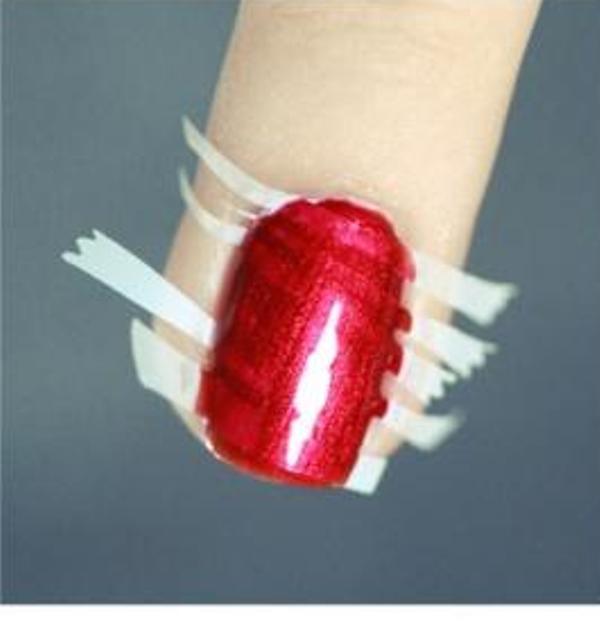 Picture Of DIY Bright Striped Nail Design 4
