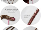 DIY Casual Tiered Chain Collar 3
