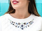 DIY Charming Gem Detail Neckline