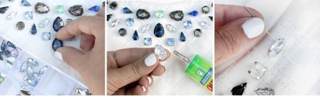 Picture Of DIY Charming Gem Detail Neckline 3
