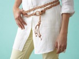 DIY Classical Braided Leather-Lace Belt