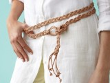 DIY Classical Braided Leather-Lace Belt3