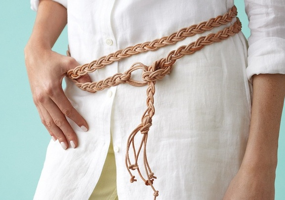 Braided Leather-Lace Belt | DIY Christmas Gifts For Everyone In Your List