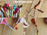 DIY Colorful Tassel Scarf2