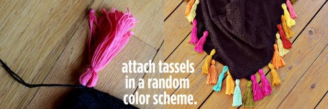 Picture Of DIY Colorful Tassel Scarf 3