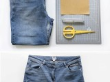 DIY Distressed Denim Shorts From Your Old Jeans3