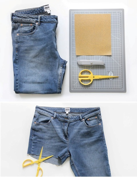 Picture Of DIY Distressed Denim Shorts From Your Old Jeans 3