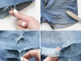 DIY Distressed Denim Shorts From Your Old Jeans4