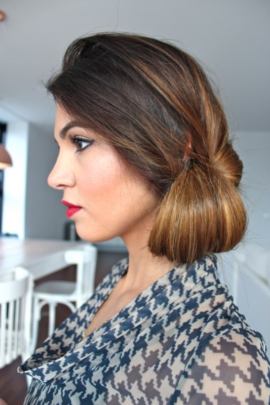 Picture Of DIY Elegant Hairstyle For The Date 7