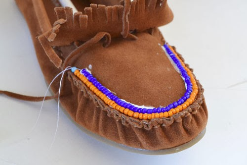 DIY Excellent Beaded Moccasins