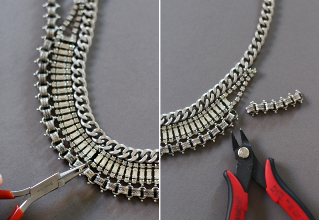 Picture Of DIY Fabulous Vintage Statement Necklace 8