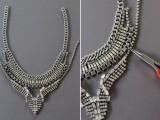 DIY Fabulous Vintage Statement Necklace9