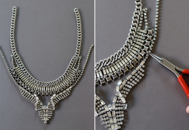 Picture Of DIY Fabulous Vintage Statement Necklace 9