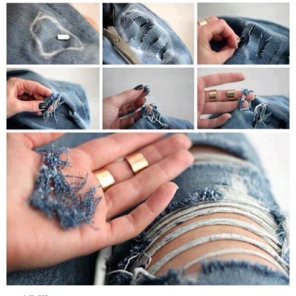 Picture Of DIY Fashionable Ripped Jeans 1