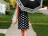DIY Fashionable Striped Umbrella 1