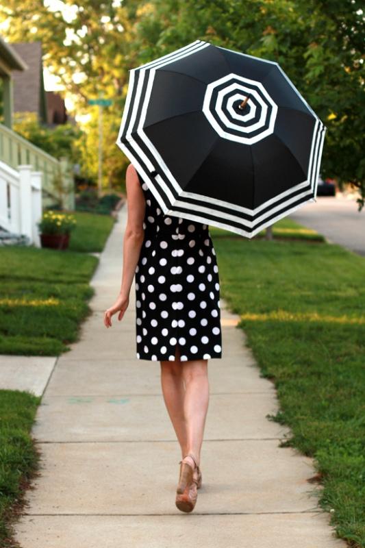 Picture Of DIY Fashionable Striped Umbrella 1