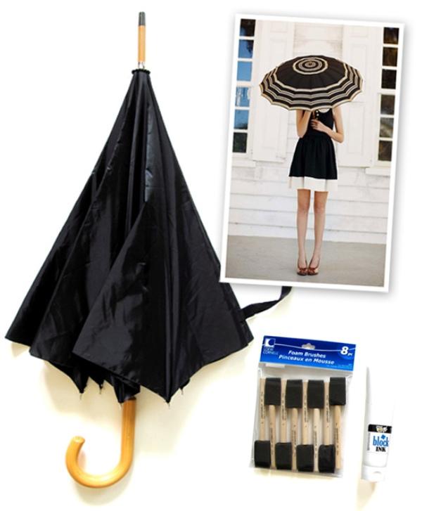 Picture Of DIY Fashionable Striped Umbrella 2