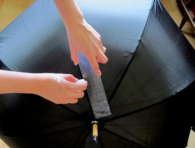 Picture Of DIY Fashionable Striped Umbrella 3