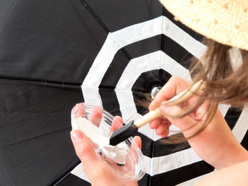Picture Of DIY Fashionable Striped Umbrella 4