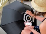 DIY Fashionable Striped Umbrella 5