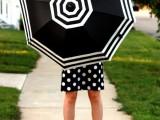 DIY Fashionable Striped Umbrella 6