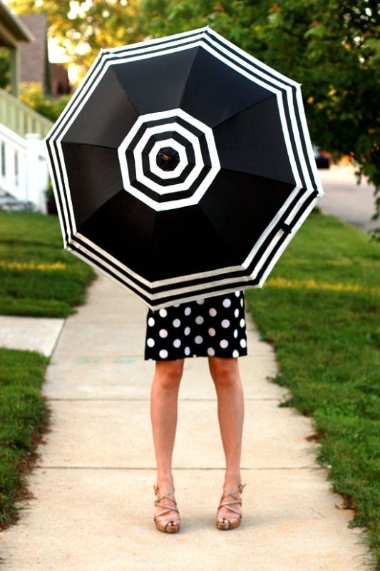 Picture Of DIY Fashionable Striped Umbrella 6