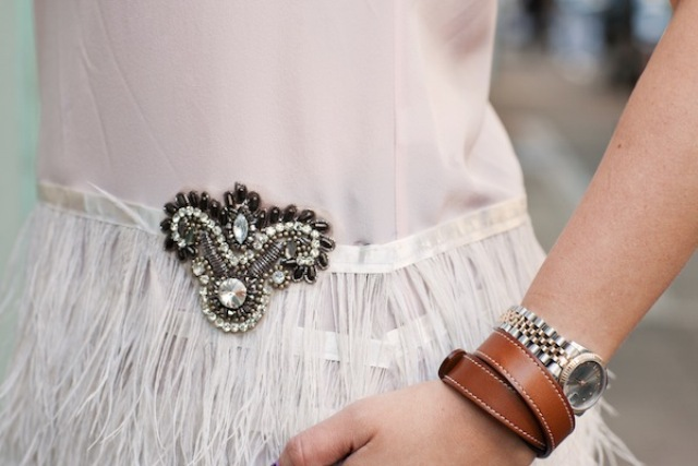Picture Of DIY Feather Peplum Top 2