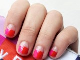 DIY Funny Pink And Red Color Nails
