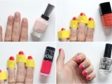 DIY Funny Pink And Red Color Nails2