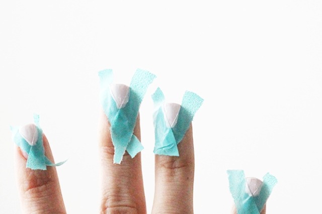Picture Of DIY Geometric Nail Art In Nude Shades 3