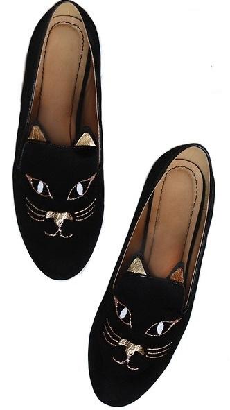 DIY Girlish Kitty Loafers