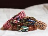 DIY Leather And Climbing Rope Macrame Bracelets