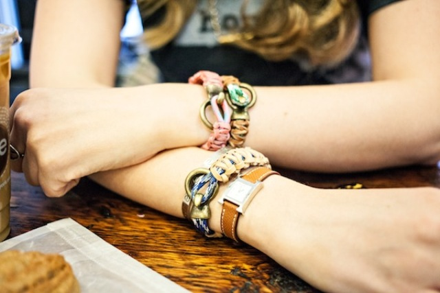 Picture Of DIY Leather And Climbing Rope Macrame Bracelets 2