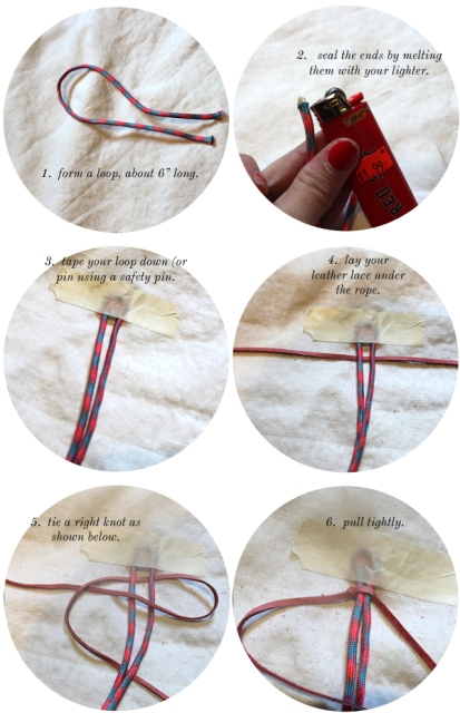 Picture Of DIY Leather And Climbing Rope Macrame Bracelets 4