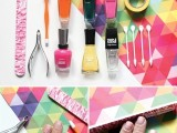 DIY Nail Art With Technicolor Triangles 3