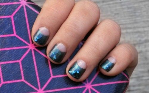 Cool DIY Nails With Shimmer