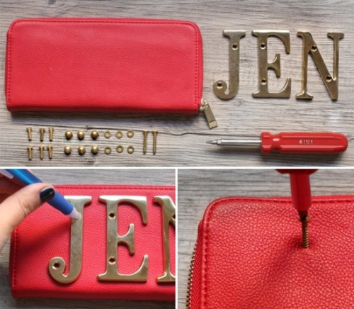 DIY Nameplate Wallet Not To Lose It
