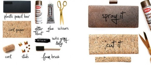 Elegant And Original DIY Cork Clutch