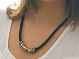 DIY Posh Ringed Cord Necklace