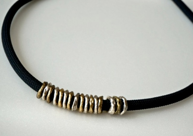 Picture Of DIY Posh Ringed Cord Necklace 3