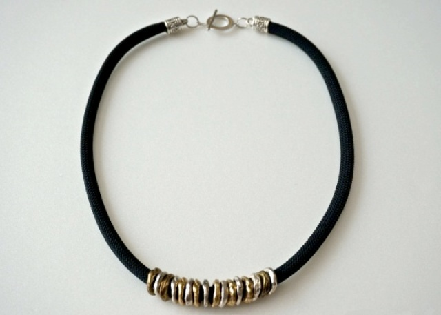 Picture Of DIY Posh Ringed Cord Necklace 6