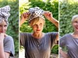 DIY Stylish Headband From An Old Scarf2