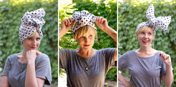 Picture Of DIY Stylish Headband From An Old Scarf 2