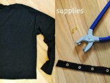 DIY T-Shirt With Laced Up Collar Sleeves3