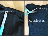 DIY T-Shirt With Laced Up Collar Sleeves4