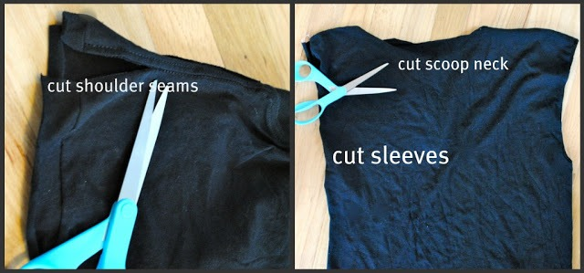 Picture Of DIY T Shirt With Laced Up Collar Sleeves 4