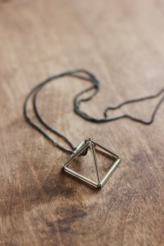 Picture Of DIY Triangle Prism Necklace 2