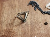 DIY Triangle Prism Necklace 5
